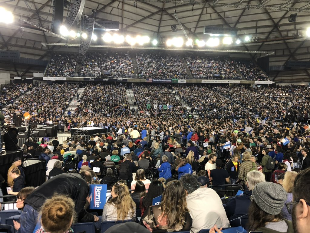 Sanders draws record crowd of 17,000 in Tacoma, Washington